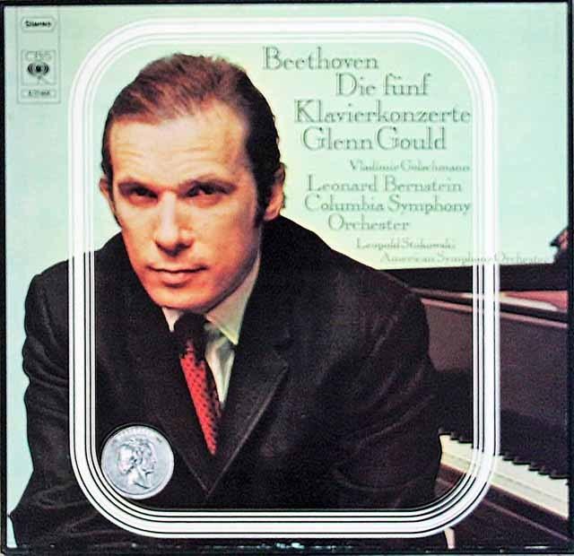 グールド、バーンスタインほかのベートーヴェン/ピアノ協奏曲集  独CBS 3392 LP レコード