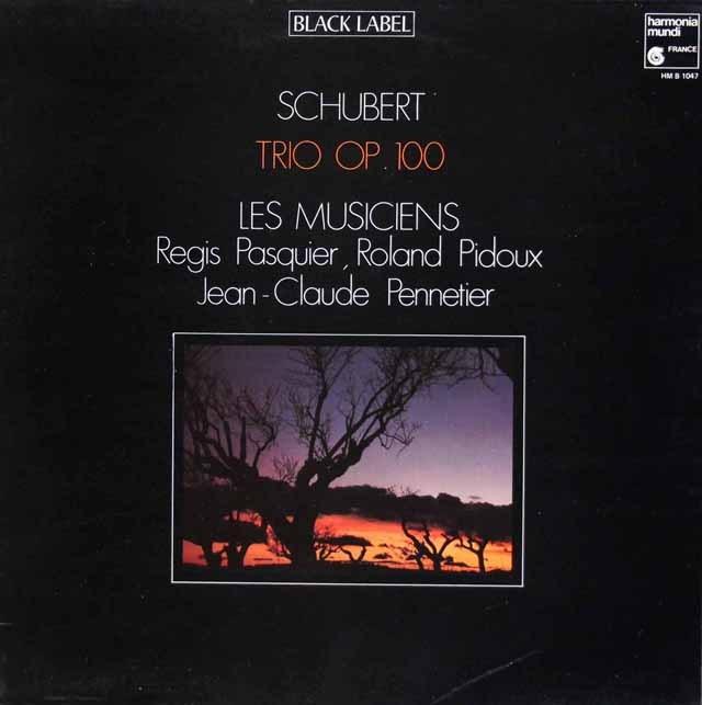 ペンティエ、パスキエらのシューベルト/ピアノ三重奏曲第2番   仏HM 3011 LP レコード