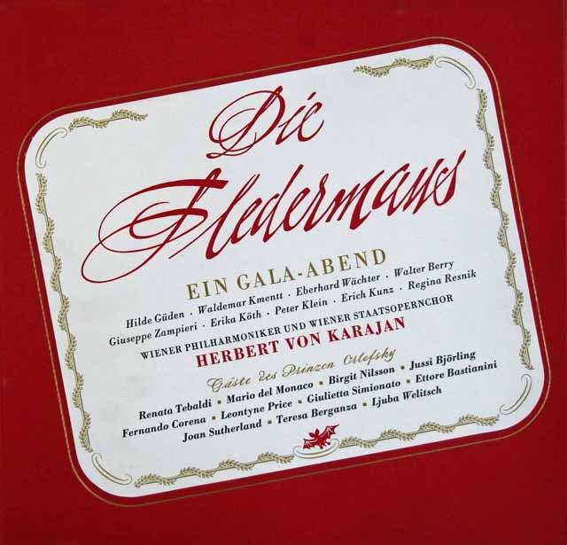 カラヤンのJ.シュトラウス2世/「こうもり」全曲  独DECCA 3011 LP レコード