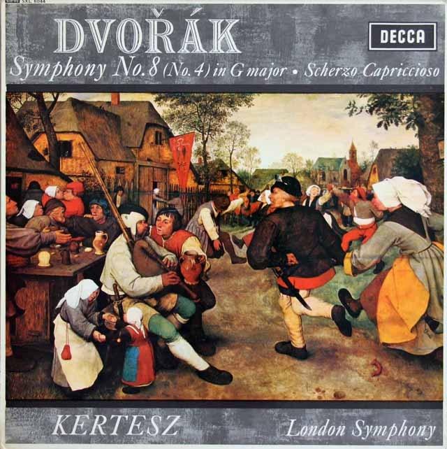 ケルテスのドヴォルザーク/交響曲第8番 英DECCA 3012 LP レコード