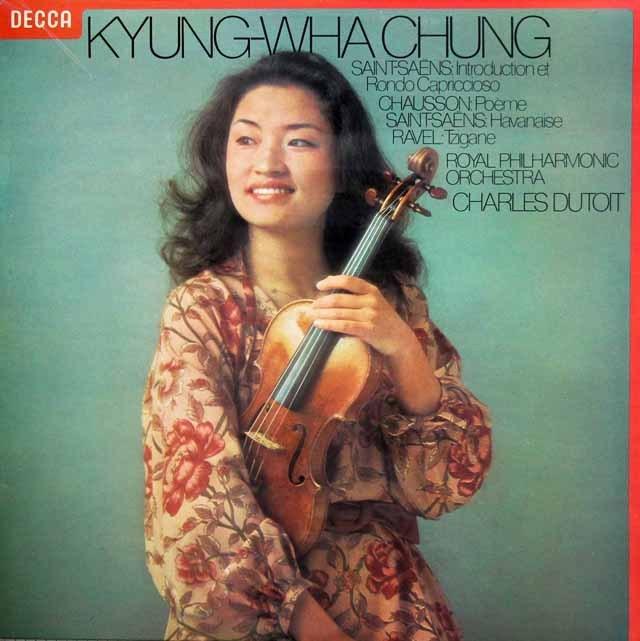 【オリジナル盤】チョン&デュトワのフランス・ヴァイオリン作品集 英DECCA 3012 LP レコード