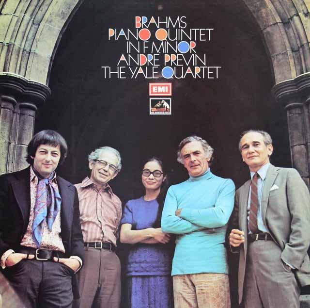 プレヴィン、イェール四重奏団のブラームス/ピアノ五重奏曲 英EMI 3392 LP レコード