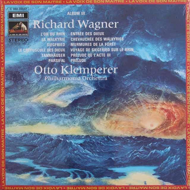 【未開封】クレンペラーのワーグナー/管弦楽曲集 vol.3 仏EMI(VSM) 3012 LP レコード
