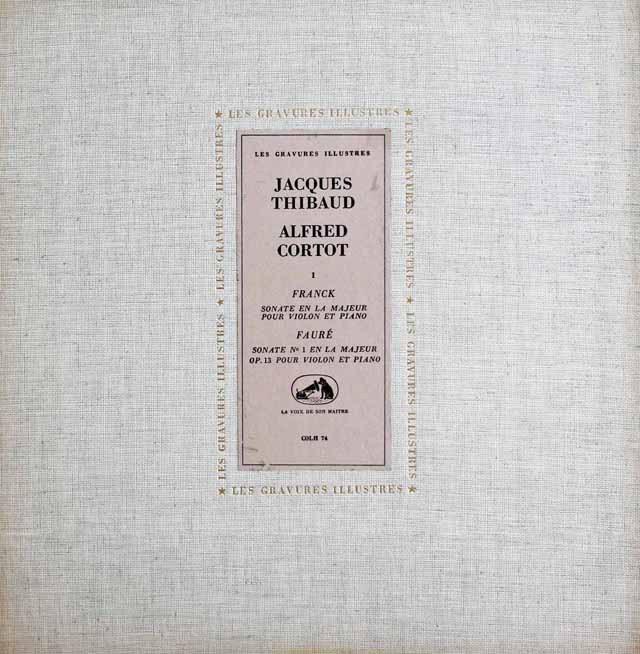 ティボー&コルトーのフランク/ソナタ集ほか 仏EMI(VSM) 3012 LP レコード