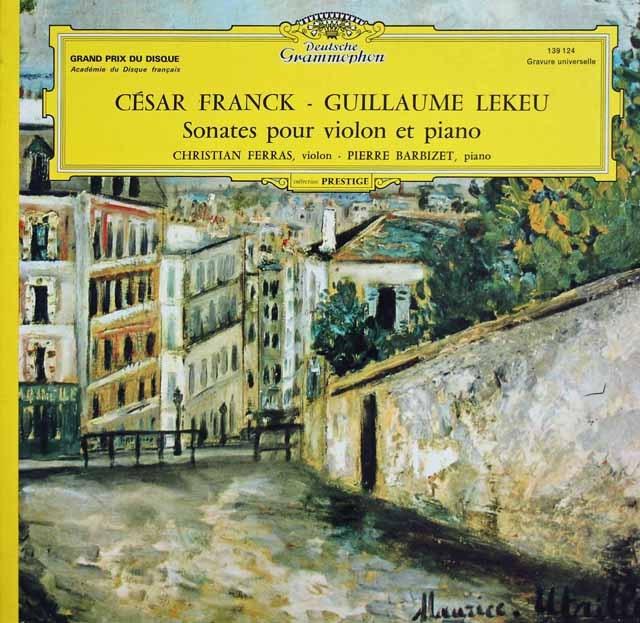 フェラス&バルビゼのフランク/ヴァイオリンソナタほか 仏DGG 3012 LP レコード