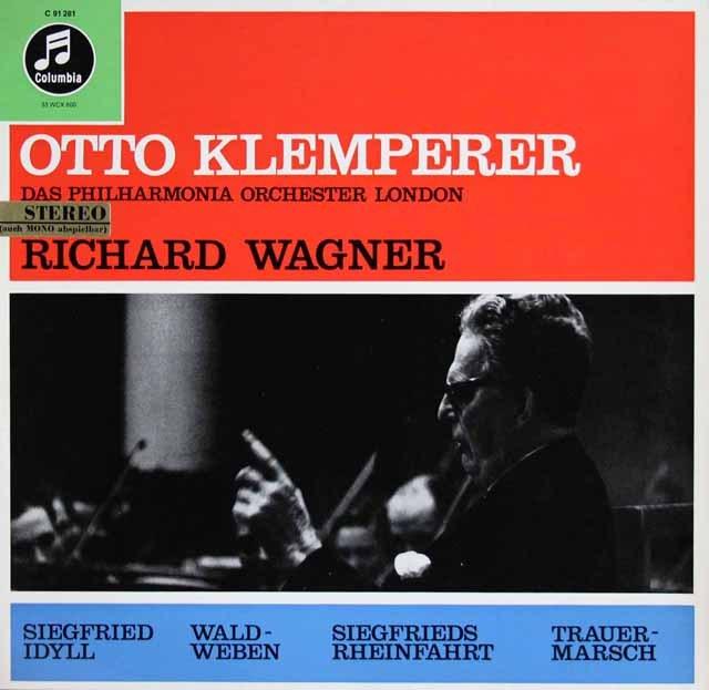 クレンペラーのワーグナー/管弦楽曲集 独Columbia 3012 LP レコード