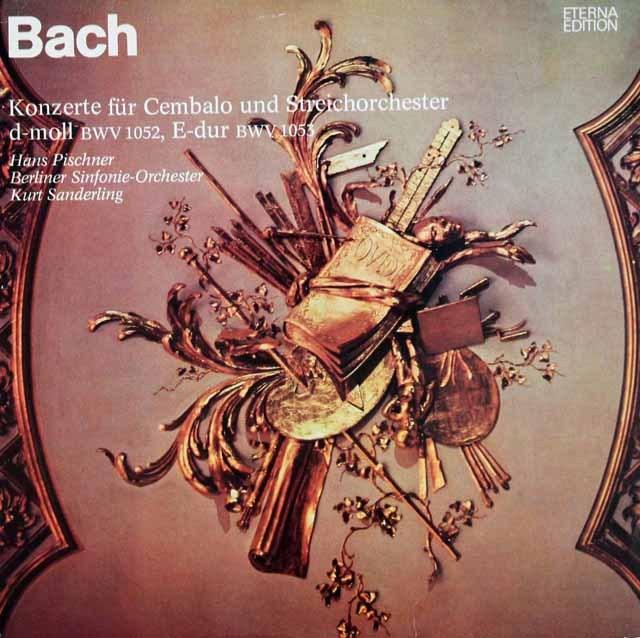 ピシュナー&ザンデルリンクのバッハ/チェンバロ協奏曲集 独ETERNA 3012 LP レコード
