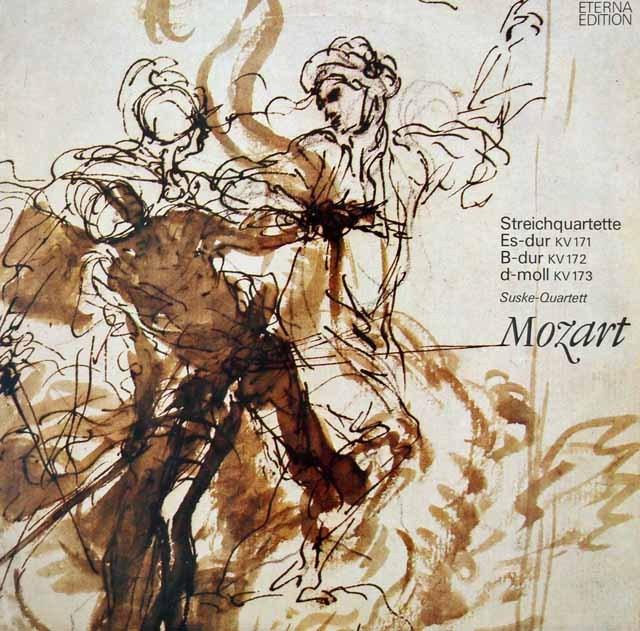 ズスケ四重奏団のモーツァルト/弦楽四重奏曲第11~13番 独ETERNA 3012 LP レコード