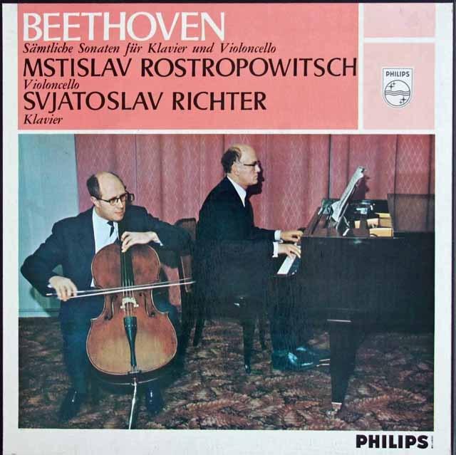 ロストロポーヴィチ&リヒテルのベートーヴェン/チェロソナタ全集 蘭PHILIPS 3012 LP レコード