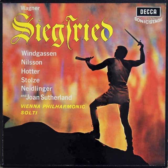 ショルティのワーグナー/「ジークフリート」全曲 英DECCA 3012 LP レコード