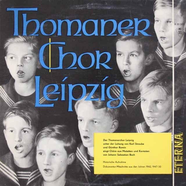 トーマス教会少年合唱団のバッハ/モテット&カンタータ集 独ETERNA 3392 LP レコード