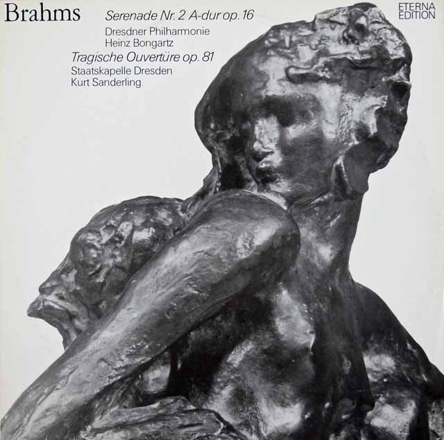 ボンガルツ&ザンデルリンクのブラームス/セレナーデ第2番&悲劇的序曲 独ETERNA 3013 LP レコード