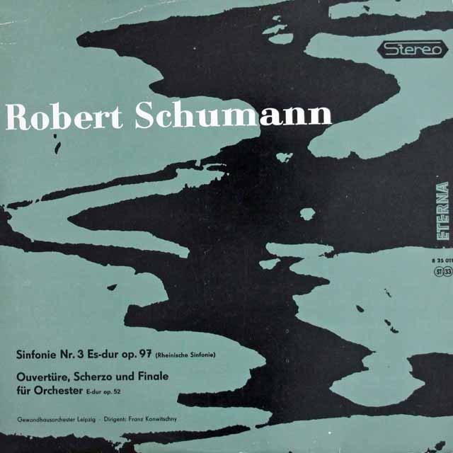 コンヴィチュニーのシューマン/交響曲第3番「ライン」ほか 独ETERNA 3013 LP レコード
