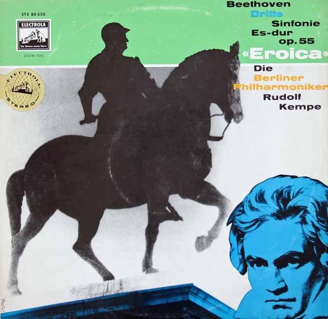 【独最初期盤】ケンペのベートーヴェン/交響曲第3番「英雄」 独ELECTROLA 3013 LP レコード