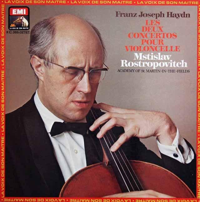 ロストロポーヴィチのハイドン/チェロ協奏曲第1&2番 仏EMI(VSM) 3013 LP レコード