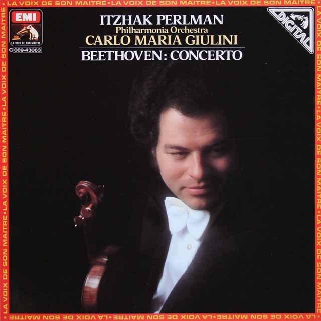 パールマン&ジュリーニのベートーヴェン/ヴァイオリン協奏曲 仏EMI(VSM) 3013 LP レコード