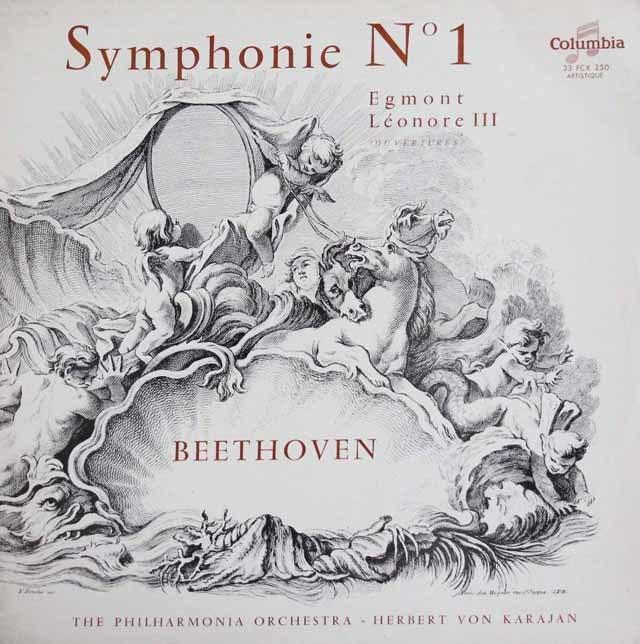 カラヤンのベートーヴェン/交響曲第1番ほか 仏Columbia 3013 LP レコード