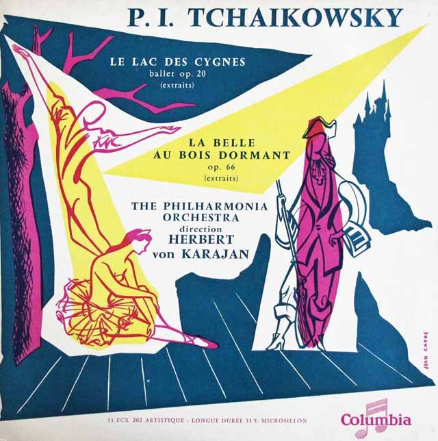 カラヤンのチャイコフスキー/「白鳥の湖」&「眠りの森の美女」 仏Columbia 3013 LP レコード