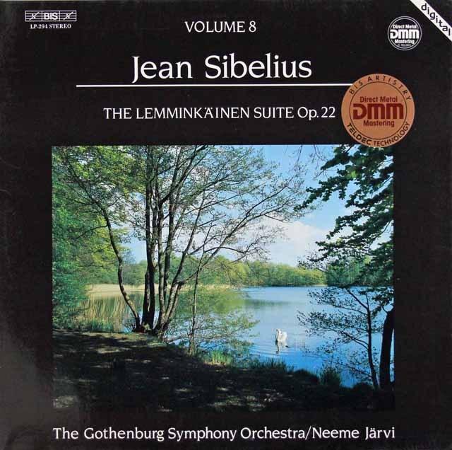 ヤルヴィのシベリウス/「レンミンカイネン組曲」 独BIS 3014 LP レコード