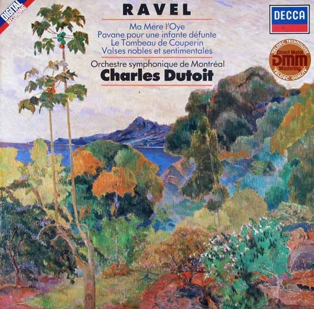 デュトワのラヴェル/「マ・メール・ロア」ほか 独DECCA 3014 LP レコード