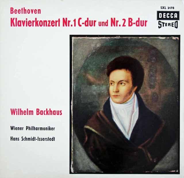 バックハウス&イッセルシュテットのベートーヴェン/ピアノ協奏曲第1&2番 独DECCA 3014 LP レコード