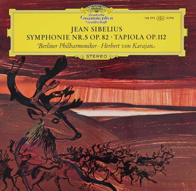 カラヤンのシベリウス/交響曲第5番、「タピオラ」 独DGG 3391 LP レコード