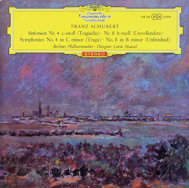 【赤ステレオ/独最初期盤】 マゼールのシューベルト/交響曲第8番「未完成」ほか 独DGG 3391 LP レコード