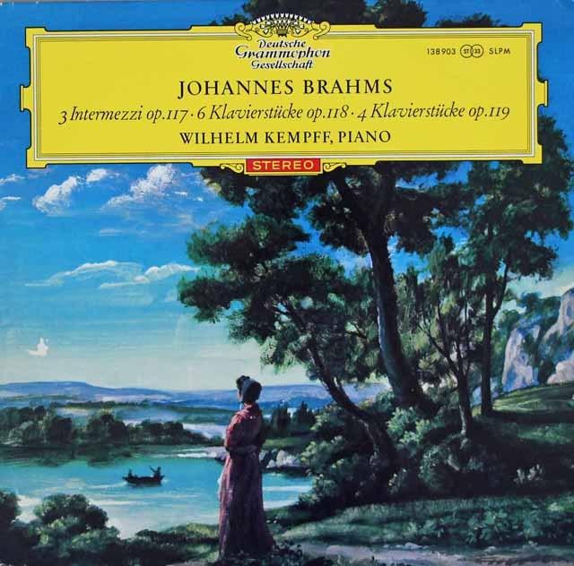 【赤ステレオ】ケンプのブラームス/「3つの間奏曲」&「6つの小品」ほか 独DGG 3014 LP レコード