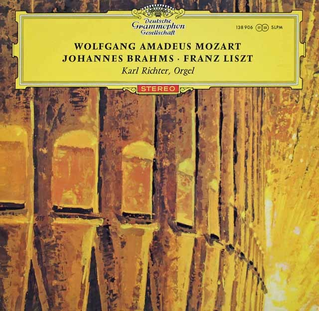 【赤ステレオ】リヒターのモーツァルト、ブラームス&リスト/オルガンのための作品集 独DGG 3014 LP レコード