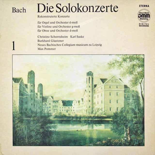 ズスケ&グレツナーらのバッハ/協奏曲集 vol.1 独ETERNA 3391 LP レコード