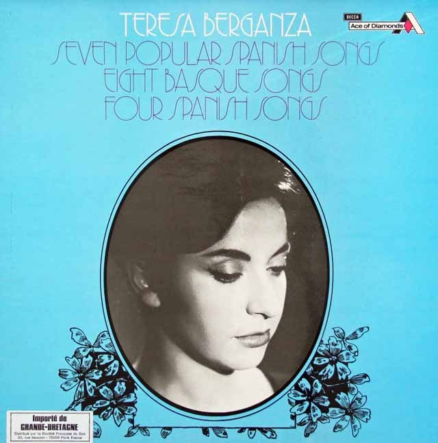 ベルガンサのファリャ/「7つのスペイン民謡」ほか 英DECCA 3014 LP レコード