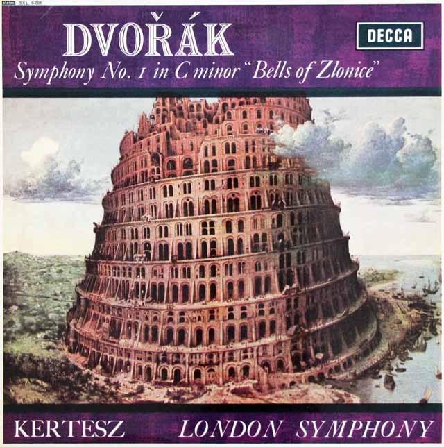 ケルテスのドヴォルザーク/交響曲第1番「ズロニツェの鐘」 英DECCA 3014 LP レコード