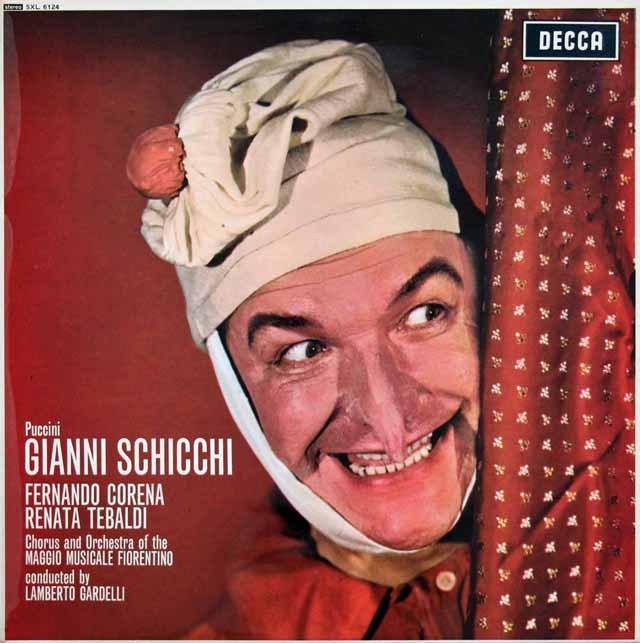 コレナ&テバルディのプッチーニ/「ジャンニ・スキッキ」 英DECCA 3391 LP レコード