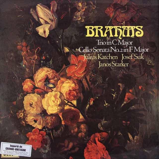 【オリジナル盤】 カッチェン、スーク、シュタルケルのブラームス/ピアノ三重奏曲第2番、チェロソナタ第2番 英DECCA 3391 LP レコード