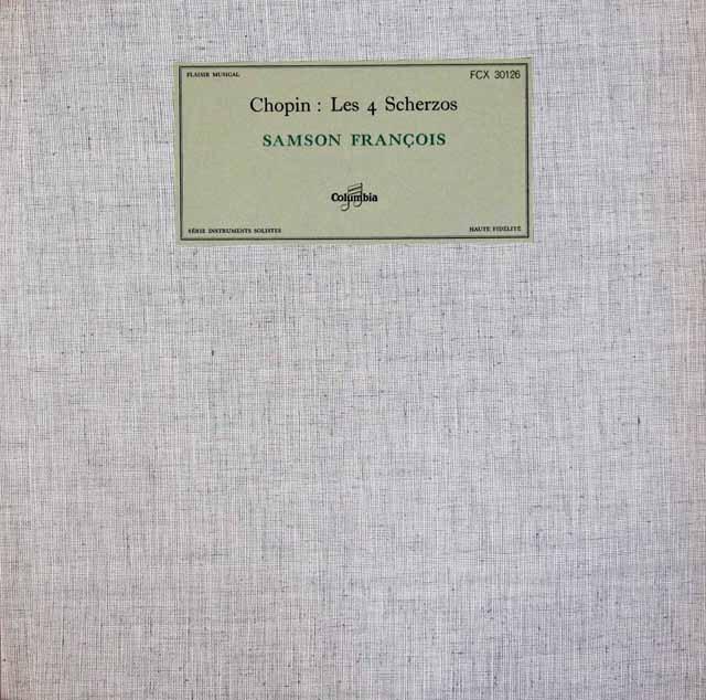 フランソワのショパン/スケルツォ集 仏Columbia 3014 LP レコード