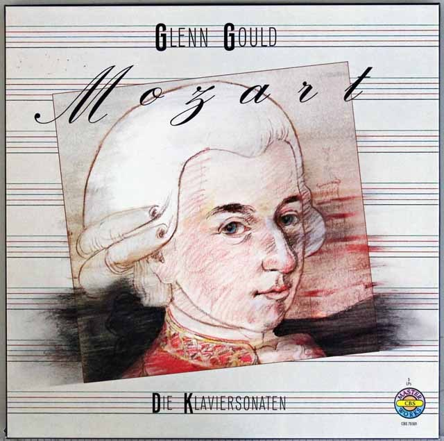 グールドのモーツァルト/ピアノソナタ全集  独CBS 3391 LP レコード