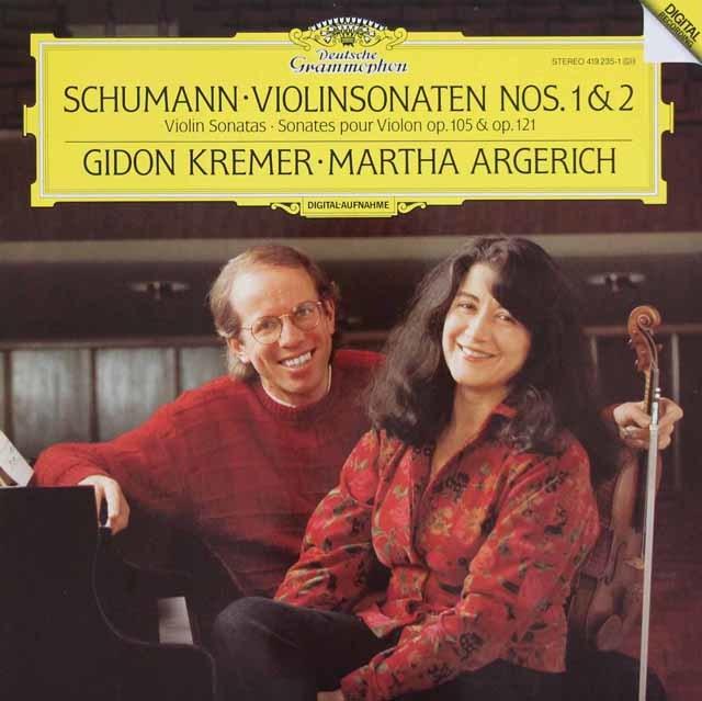 クレーメル&アルゲリッチのシューマン/ヴァイオリンソナタ第1&2番 独DGG 3105 LP レコード