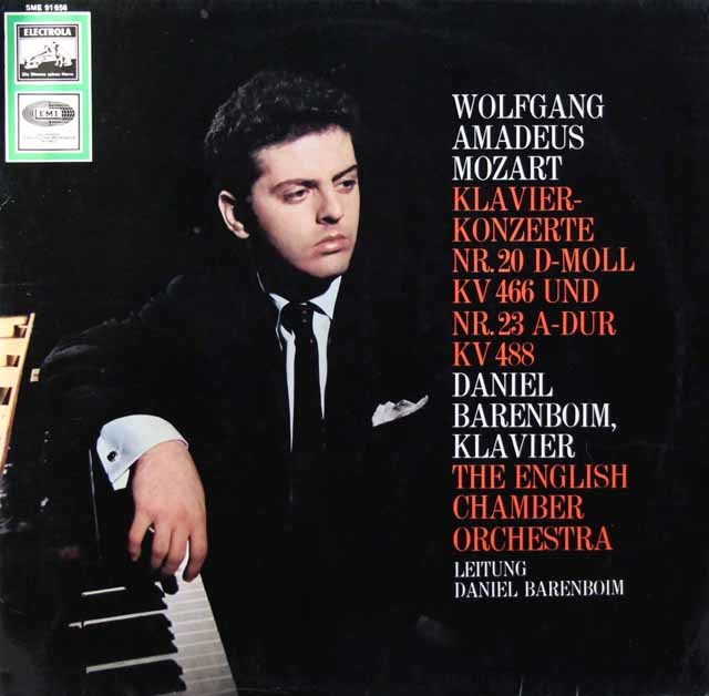 バレンボイムのモーツァルト/ピアノ協奏曲第20&23番 独EMI 3105 LP レコード
