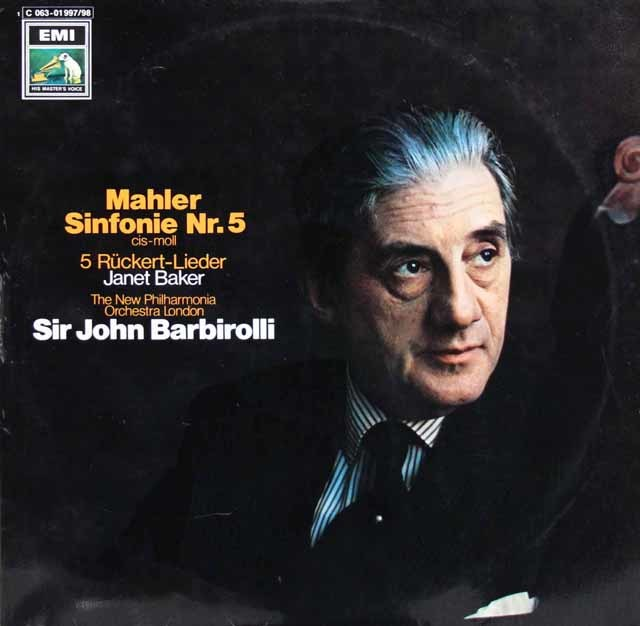 バルビローリのマーラー/交響曲第5番 独EMI 3105 LP レコード