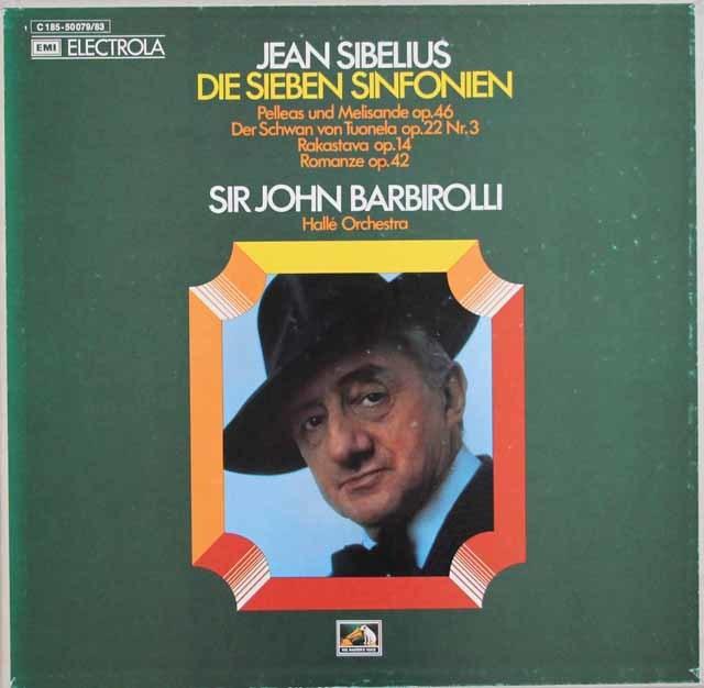 バルビローリのシベリウス/交響曲全集 独EMI 3105 LP レコード