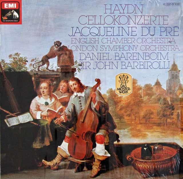 デュ・プレ&バルビローリらのハイドン/チェロ協奏曲第1&2番 独EMI 3105 LP レコード
