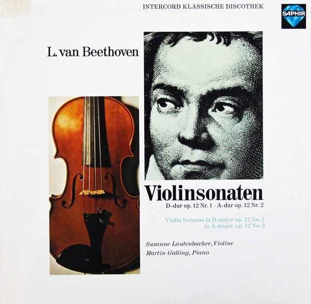 ラウテンバッハーのベートーヴェン/ヴァイオリンソナタ第1&2番 独SAPHIR 3105 LP レコード