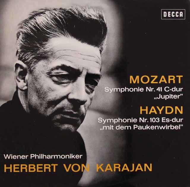 カラヤンのモーツァルト/交響曲第41番「ジュピター」ほか 独DECCA 3105 LP レコード