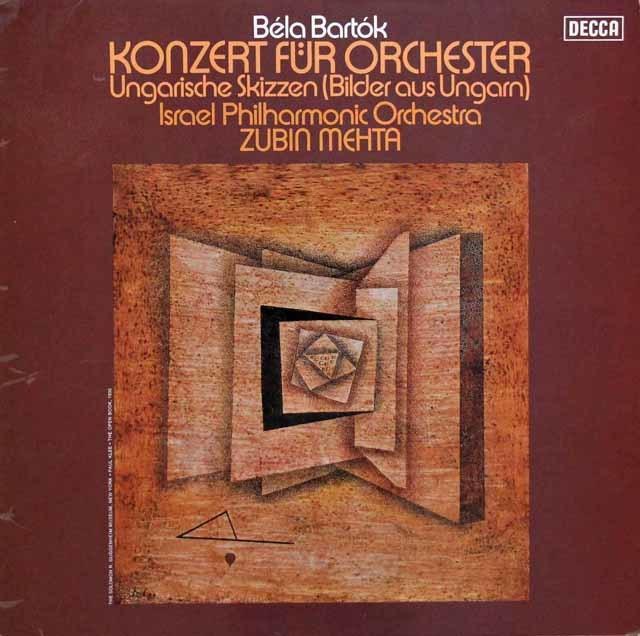 メータのバルトーク/管弦楽のための協奏曲ほか 独DECCA 3105 LP レコード