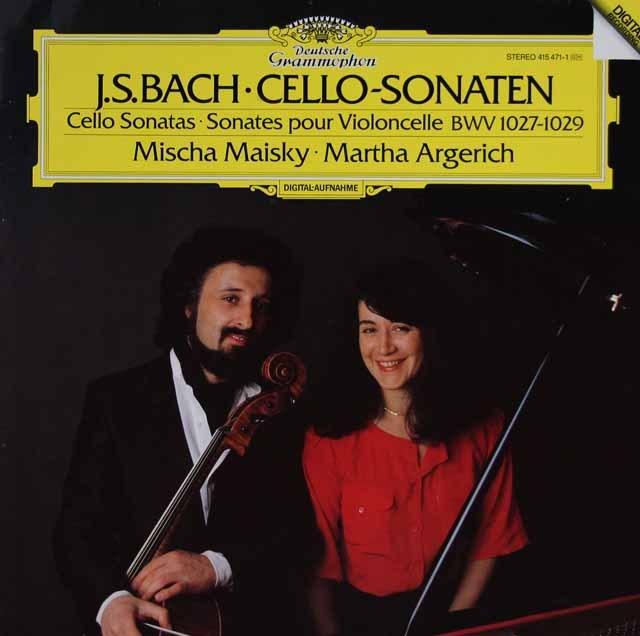 アルゲリッチ&マイスキーのバッハ/チェロ・ソナタ第1~3番 独DGG 3015 LP レコード