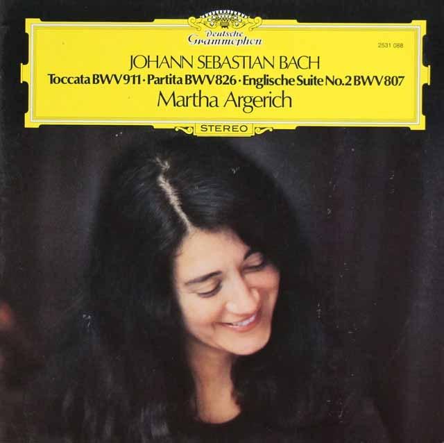アルゲリッチのバッハ/イギリス組曲第2番ほか 独DGG 3015 LP レコード