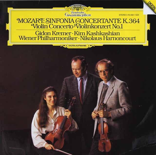 クレーメル&アーノンクールらのモーツァルト/ヴァイオリン協奏曲第1番ほか 独DGG 3015 LP レコード
