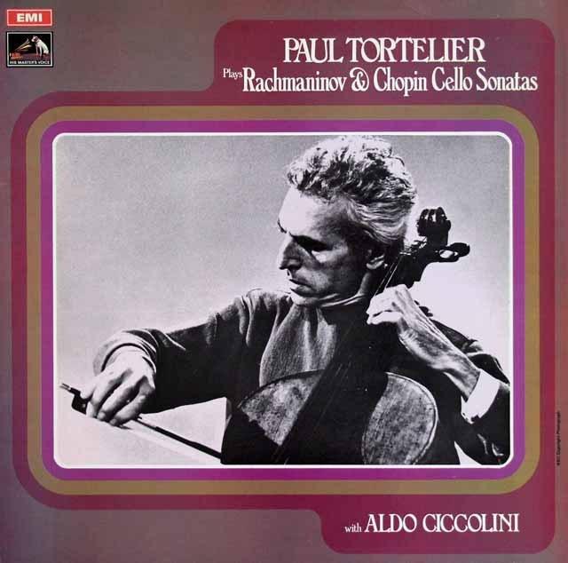 トルトゥリエ&チッコリーニのラフマニノフ&ショパン/チェロソナタ集  英EMI 3015 LP レコード