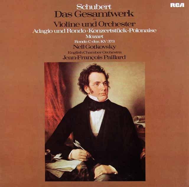 ゴトコフスキー&パイヤールのシューベルト/「ヴァイオリンと管弦楽のための小協奏曲」ほか  独RCA 3015 LP レコード