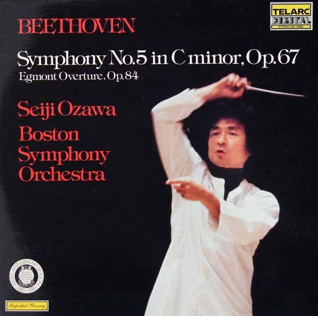 小澤のベートーヴェン/交響曲第5番ほか 独TELARC 3015 LP レコード